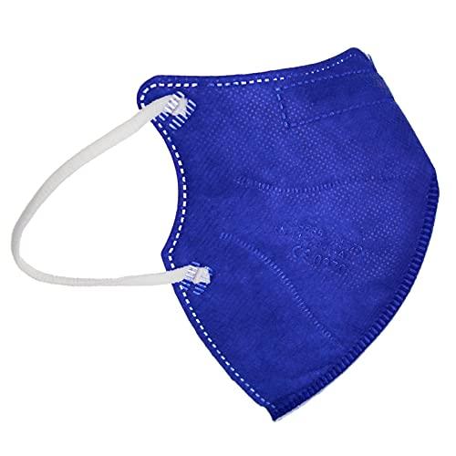 TBOC Mascarillas FFP2 [Pack 10 Unidades] Máscaras [Talla Pequeña] Desechables [Azul] 5 Capas [No Reutilizables] Transpirables Plegables con Pinza Nasal [Certificadas y Homologadas]
