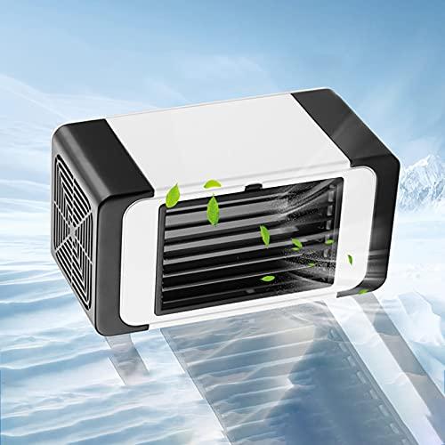 XIHAI Raffrescatore Evaporativo con Cristalli di Ghiaccio Condizionatore Portatile Grande Volume d'Aria Risparmio Energetico Ventilatore Portatile Mini Condizionatore Portatile USB