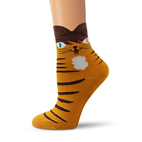 Ambielly Socken aus Baumwolle Thermal Socken Erwachsene Unisex Socken (4 Katzen) - 2