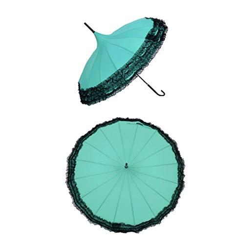 16 Bone Multi-Layer kant Pagode Paraplu Koreaanse Dame Mode Creatieve Lange Handvat Paraplu