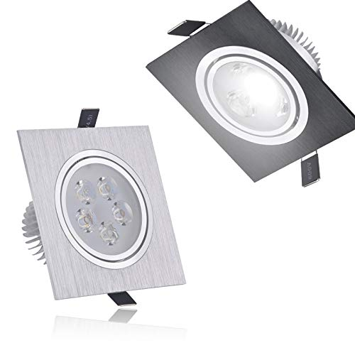 LEV LED Downlights - dimmable Square led Downlight 6w 10w 14w 12v 220v recessed Cabinet Bulb Square Spotlight Ceiling led Driver for Home Decoration - by 1 PCs