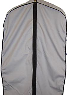 "TUVAINC Breathable Cotton Cloth Fur Coat & Suit/Dress Garment Bag, 45"", Grey"
