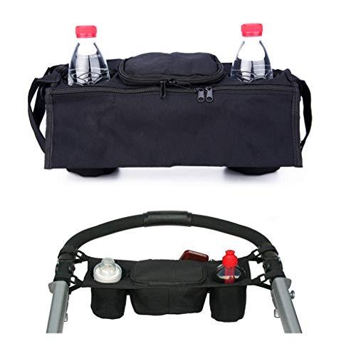 JUNGEN Kinderwagen Organizer Kinderwagen Zubehör Universal schwarz Baby Wickeltasche Kinderwagen Buggy Becherhalter passend für die meisten Kinderwagen