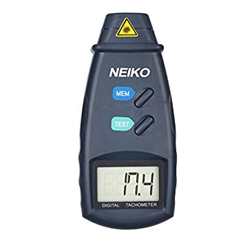 Neiko 20713A Digital Tachometer Non Contact Laser Photo | 2.5 - 99,999 RPM Accuracy | Batteries Included