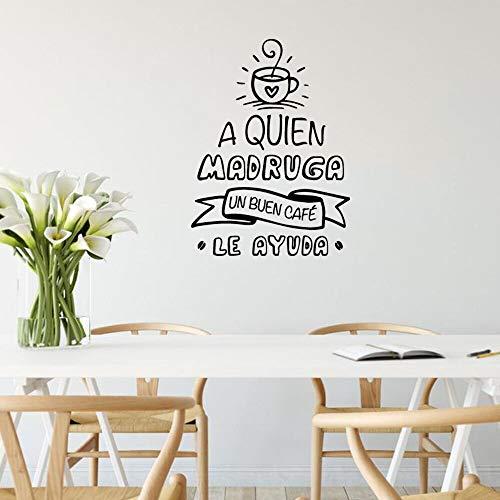 Jsnzff Romántico Etiqueta de la Pared Etiqueta de la Pared decoración del hogar Dormitorio decoración Vinilo Arte calcomanía 57x77 cm