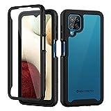 seacosmo Cover Samsung A12 / M12, 360 Gradi Rugged Custodia Samsung A12 Antiurto Trasparente...