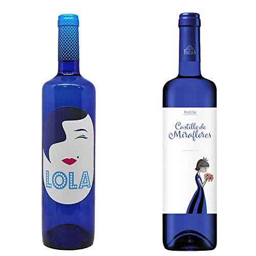 Lola Blanco Semidulce y Castillo de Miraflores - D. O. Campo de Borja y D. O. Rueda - 2 botellas de 750 ml