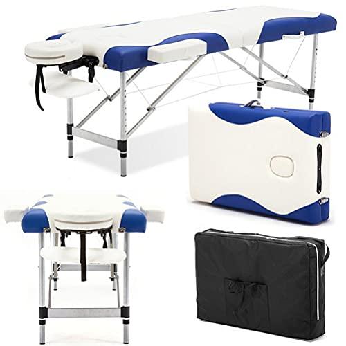 Inconnu Lit de Massage Portable 73x27 Pouces avec Pied en Aluminium, Table de Massage en 2 Sections,...