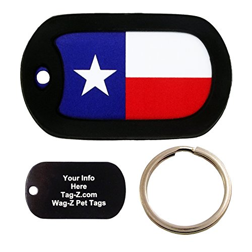 Custom Engraved Pet Tag - Texas Flag - Dog Tag - Tag-Z Wag-Z