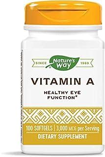 Nature's Way, Vitamin A, 10,000 IU, 100 Softgels