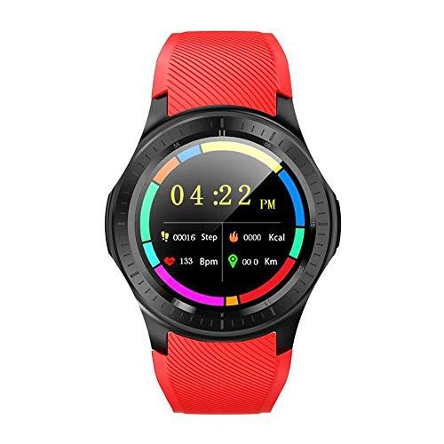OH Moda Dm368P Smar Tvigila, Ip67 Impermeabilizan Monitor de Ritmo Cardíaco Smartwatch, 1 Gb 16 Gb + 4G Llamada Wifi Gps Deporte Podómetro Inteligente Reloj el uso diario/Rojo