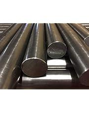 Barra redonda de acero suave brillante EN3B de 300 mm de largo