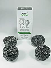 4 Reusable and dishwasher-safe Scrubbers. High-quality, stainless steel means SCRUB BUDS are long-lasting and won't rust. Great for cleaning glassware, non-mirrored cookware, ovens, grills – even fruits and veggies. Tough on dirt and grime, gentle on...