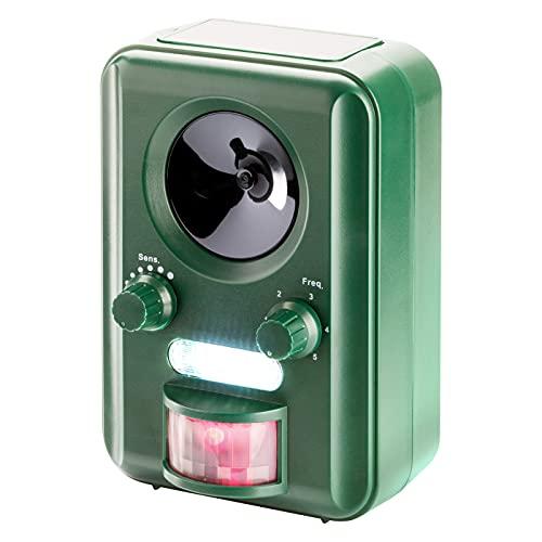VOSS.sonic 2000 Ultraschall Abwehr mit Solarbetrieb und Blitz gegen Katzen, Hunde, Marder, Tierabwehr, Katzenschreck Hundeschreck Marderschreck