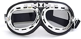 Sugar_man Motorcycle Outdoor Sports ATV Riding Scooter Driving WWII RAF Vintage Protect Helmet Glasses Goggles (A7) For HONDA CBR250R 2011-2012