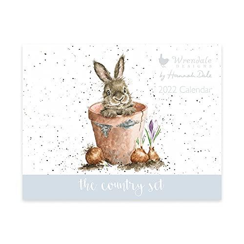 Wrendale Designs Country Set Landscape Calendar 2022 – Rabbit in Flower pot