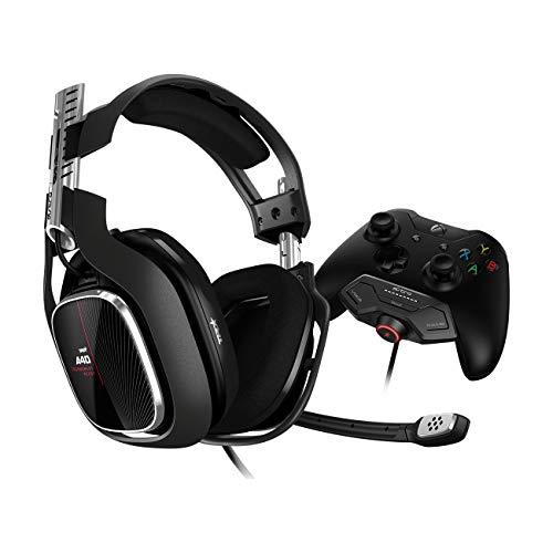 Headset ASTRO Gaming A40 TR + MixAmp M80 Gen 4 para Xbox One - Preto/Vermelho