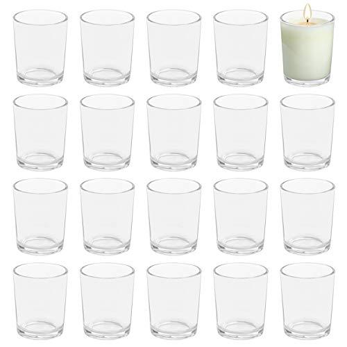 BELLE VOUS Portavelas Cristal Votivo Vela de Té (Pack de 72) 5...