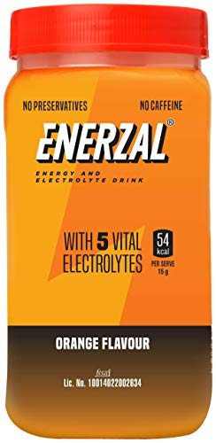 Enerzal Energy Drink Powder Orange Flavour (Pet Jar) 500g