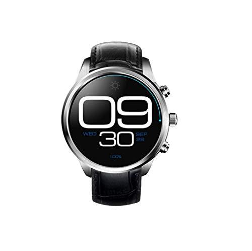 HoEOQeT Mode Casual Montre Sport marchepied Montre Intelligente Montre Bracelet (Color : Argent)
