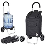 dbest products Trolley Dolly, Black Shopping Grocery Foldable Cart...