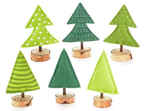 Gruppo Maruccia Segnaposto a Forma di Albero di Natale Set da Sei Pezzi