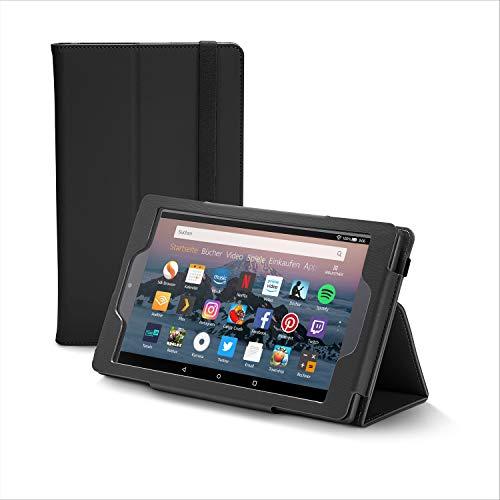 Nupro Premiumhülle für Fire HD 8-Tablet, faltbar, Schwarz