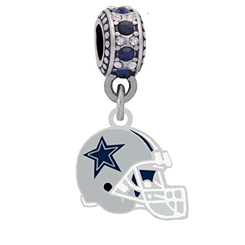 Cowboy Helmet Charm Compatible With Pandora Style Bracelets. Can also be worn as a necklace (Included.)