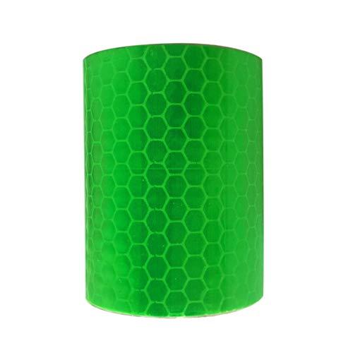 fengzong 5 cm * 3 m Sicherheitszeichen reflektierende Klebebandaufkleber Auto-Styling selbstklebendes Warnband Automobile Motorrad reflektierende Folie (grün)