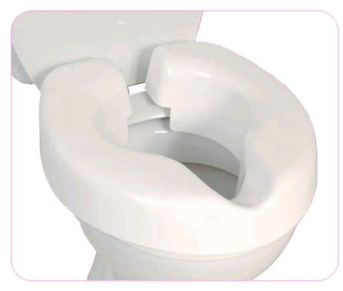 NRS Healthcare Novelle Portable Clip-On Raised Toilet Seat, Height Raiser, Maximum User Weight 190kg(30st), Not For All Toilets, Please Check Dimensions
