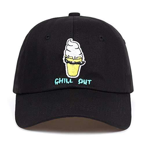 Lvntsx Katoen Chill Out Ice Cream Hoed Honkbal Cap Voor Mannen Vrouwen Hip Hop Snapback Cap Bone Garros Golf Hoeden Nieuwe