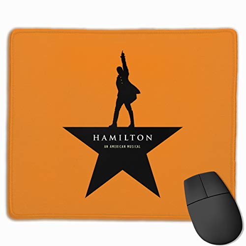 Hamilton an American Musical Gaming Mouse Pads Non-Slip Rubber Base Square Mat for Desktops Computer Laptops