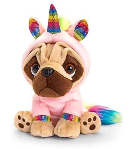 tachi Peluche perro Pusley disfraz de unicornio cachorro 14 cm nia peluche sentado
