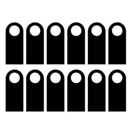 HEALLILY 12 Pcs en Bois Porte Cintre Signe Double Face Tableau Noir Porte Étiquette D'avertissement pour Hôtel Partie Porte Signe Ornement Décoration