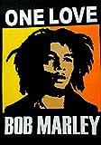 ICC Bob Marley One Love Poster 76,2 x 101,6 cm in psychedelischer Hippie-Flagge, Geschenk, Wandbehang, Wohnheimdekoration, Decke, Wandteppich, Hippie, Rasta, Reggie, Collage