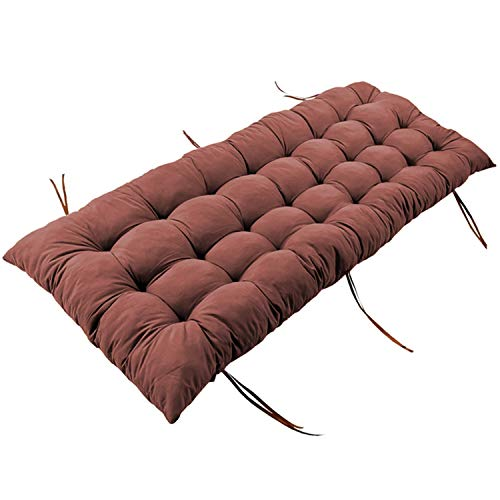 WZLL Chair Patio Cushion Chair Pads Patio Sun Lounger Cushions Indoor/Outdoor Replacement Pad for High Back Chair, Office Chair, Folding Chairs, Armchair (Color : Brown, Size : 55x110cm)
