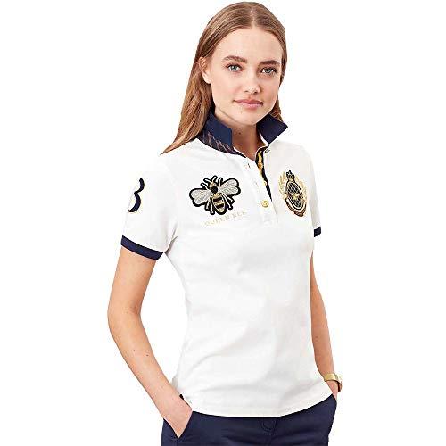 Joules Claredon Damen Poloshirt, bestickt 40 cremefarben