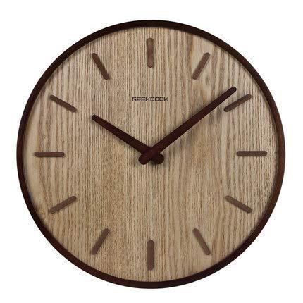 Lsmaa Estilo Chino Dormitorio del Reloj de Pared de Silencio la Sala de Estar del Reloj de Cuarzo solido de Madera de Estilo Chino del hogar del Reloj Retro Reloj Colgante (Color: B) (Color : B)