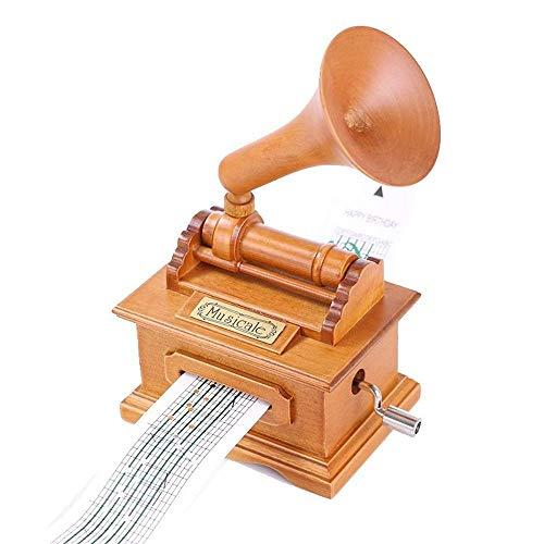 Caja de música Retro Violin Film Proyector Fonógrafo Máquina de Coser Caja de música Bailarina Joyero Decoraciones de Regalo de cumpleaños