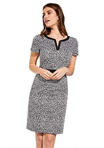 comma Damen 85.899.82.0988 Kleid, Mehrfarbig (99m9 AOP Fake Animal Dots 99m9), (Herstellergröße: 40)