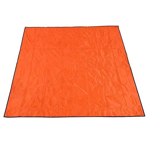 GLLP Picnic Mat Playa Playa Mat Plegable Estera de la Tienda Mat portátil a Prueba de Agua 215 × 215cm (Color : Orange)