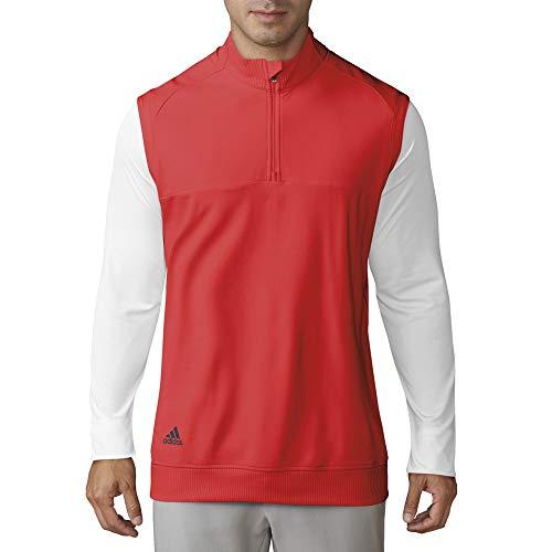 adidas Golf Classic Club - Chaleco con Cremallera de 1/4 para Hombre, Hombre, TM4316S8, Rojo de Alta resolución, XXL