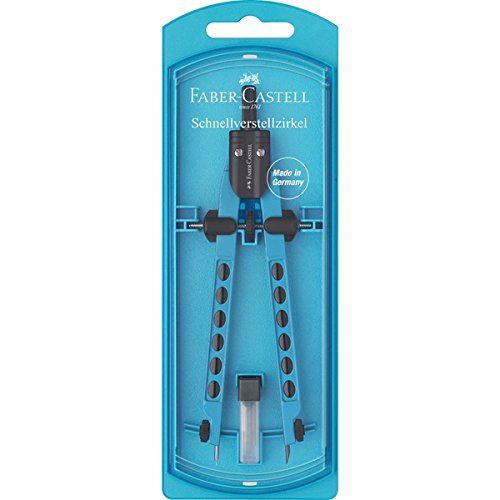Faber-Castell 174335 Factory Neon - Compás con rueda