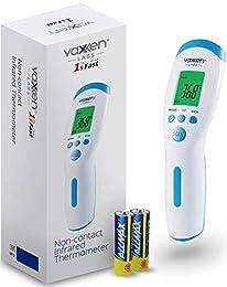 * 同級最佳功能:輕鬆切換華氏(°F)和攝氏(°C);自動關閉,節約電源和能源;低電池指示燈。 包裝內含:溫度計和使用手冊(含電池) * 最高標準 - 符合 CE、PSE 和 FDA 標準和法規。 自動關閉 - 裝置自動關閉以節省電力。 * 多模式熱計 - 數位溫度計專為從嬰兒到長者的所有年齡層所設計。 它不僅支援額頭功能,而且能夠承受房間/物體溫度。 * 發燒警告 - 簡單、快速且精確 - 在 1 秒內以華氏和攝氏顯示。 * 無直接接觸:這款數位紅外線溫度計無需與皮膚接觸,以避免使用之間的污染...