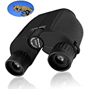 CBoner 10x25 Folding High Powered Binoculars with Weak Light Night Vision Clear Bird Watching Great for Outdoor Sports Games and Concerts