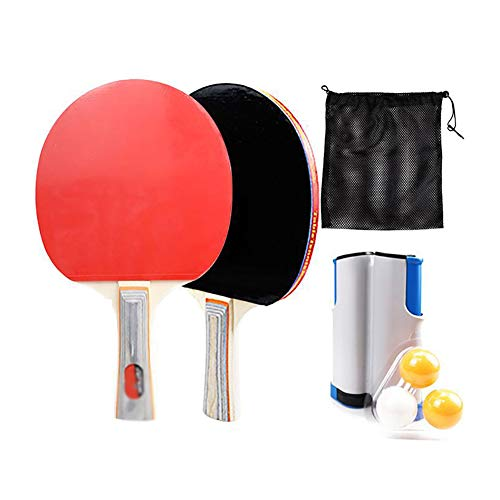 Find Bargain ZZZL Retractable Tabletop Tennis Game Set, Ping Pong Paddle Set Table Tennis Training S...