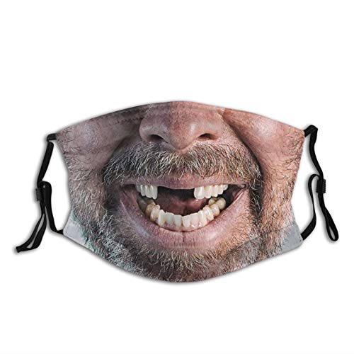 Funny Face Missing Teeth Redneck Hillbilly Smile Funny Masks Face Mask Fashion Scarf Reusable Mouth Mask Balaclavas For Men Women