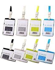 Waizmann.IDeaS® 1 x zestaw identyfikatorów, smycz na klucze, smycz na klucze, 10 mm, etui na karty, HORIZONTAL zamknięta, do 1 karty, etui na dowód osobisty, duży, wybór kolorów