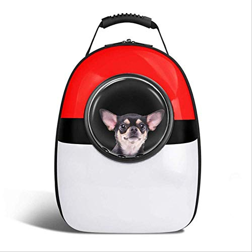 JBPX transportbox voor huisdieren space capsules Astronaut Pet Cat rugzak Finestra A Bol voor Kitty Chihuahua Carrier Small Carrier Outdoor reistas, Rood Wit