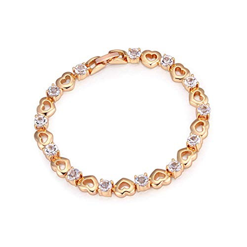 Armband Armbanden Link Armbanden Vergulde Sieraden Klassieke Micro-Inlaid Zirkoon Armband Met Hartvormige Zoete En Mooie Armband@A